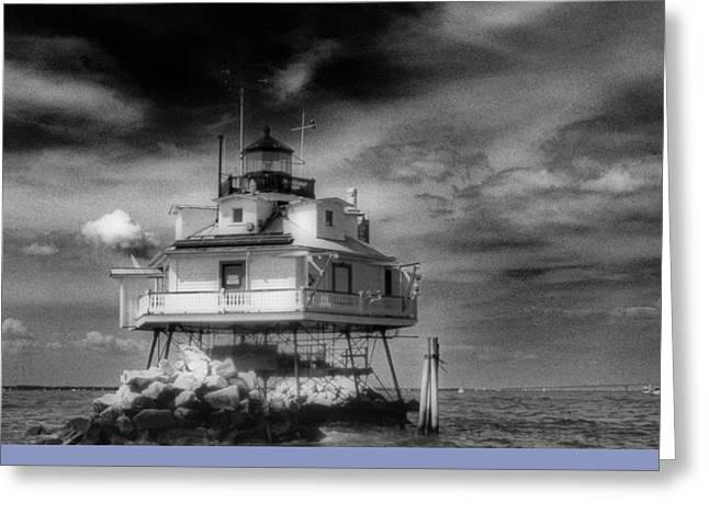 Annapolis Md Greeting Cards - Thomas Point Shoal Lighthouse Greeting Card by Skip Willits