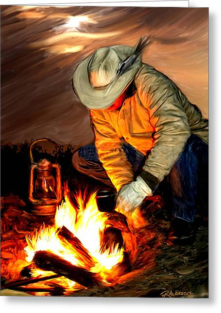 Ranch Life Greeting Cards - Thoughts of Home Greeting Card by Robert Albrecht