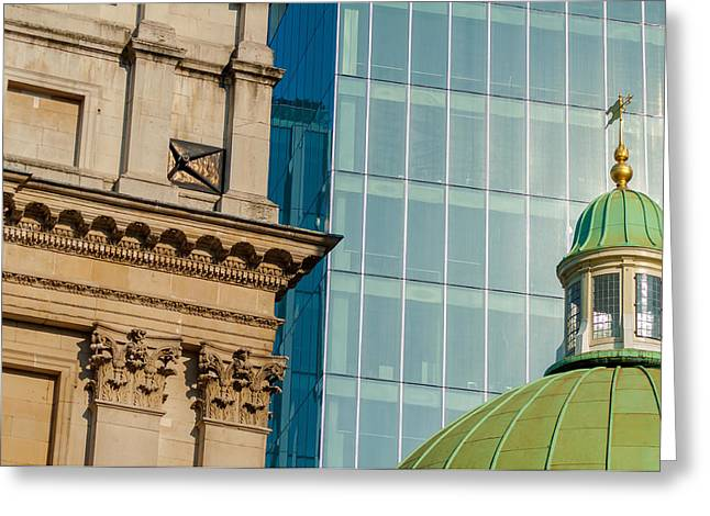 Controlling Development Greeting Cards - Three Styles of Architecture Greeting Card by Chay Bewley