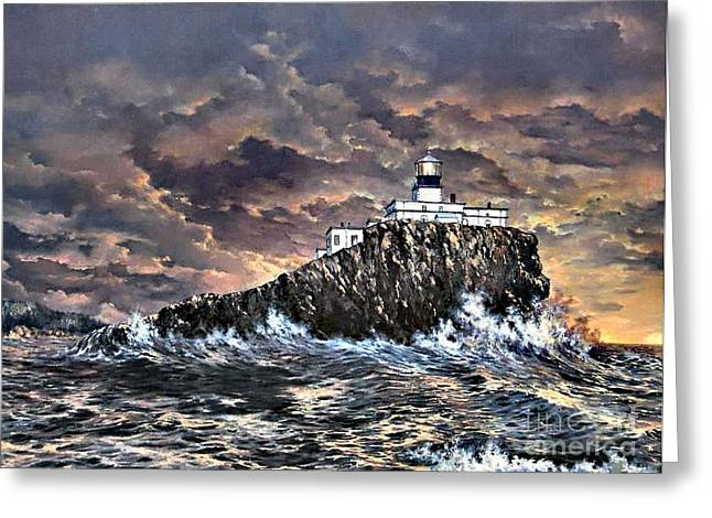 Tillamook Rock Light Greeting Card by Lynne Wright