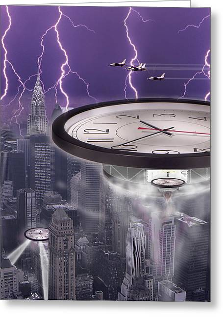 Spacecraft Digital Greeting Cards - Time Travelers 2 Greeting Card by Mike McGlothlen