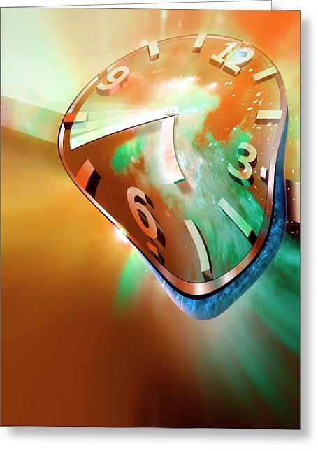 Time Warp Greeting Card by Detlev Van Ravenswaay