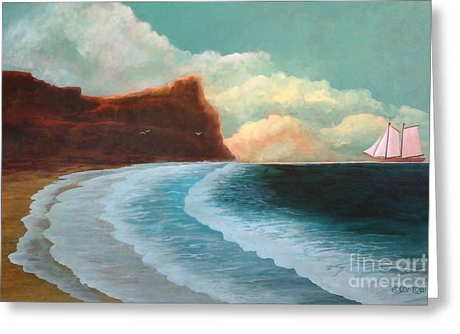 Recently Sold -  - Schooner Greeting Cards - Timeless Greeting Card by Corey Ford