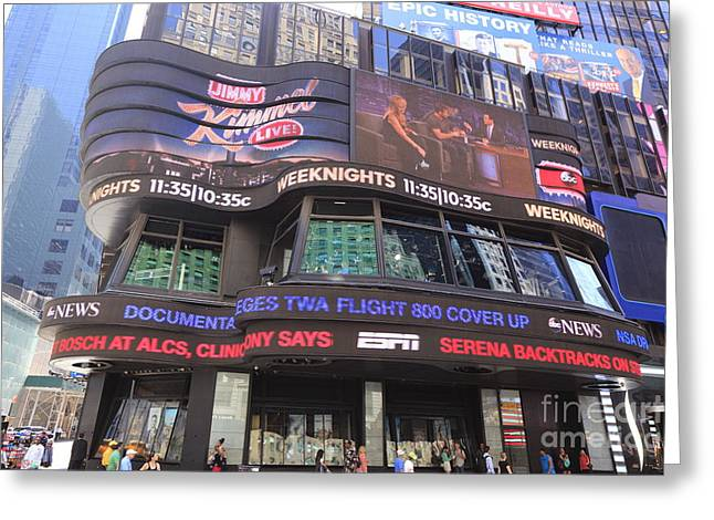 Gma Greeting Cards - Times Square Greeting Card by Chris Selby