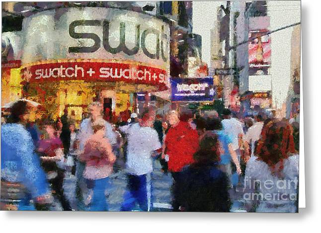 Travel Greeting Cards - Times Square Greeting Card by George Atsametakis