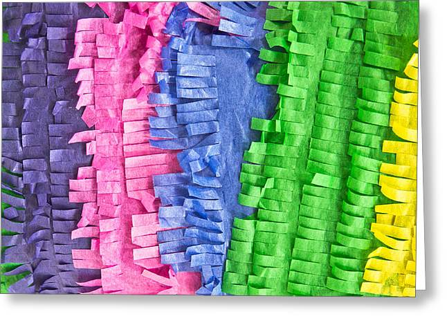 Wrapping Greeting Cards - Tissue paper Greeting Card by Tom Gowanlock
