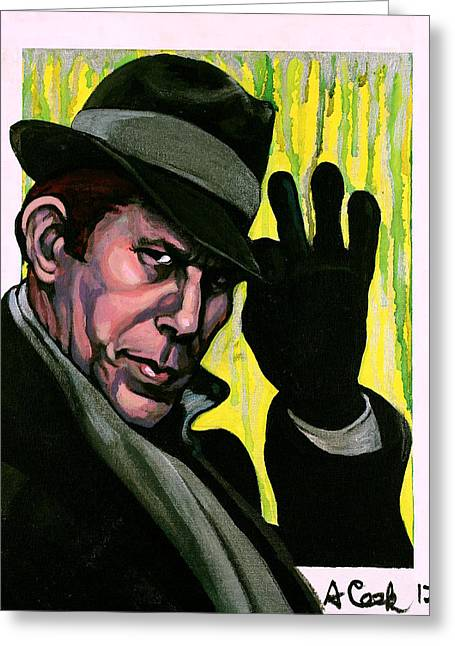 Closing Time Greeting Cards - Tom Waits Greeting Card by Adam B Cook