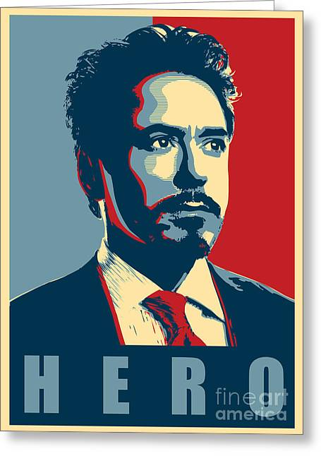 Photomonatage Digital Greeting Cards - Tony Stark Greeting Card by Caio Caldas