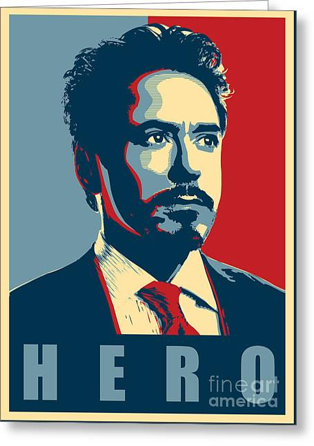 Genius Greeting Cards - Tony Stark Greeting Card by Caio Caldas