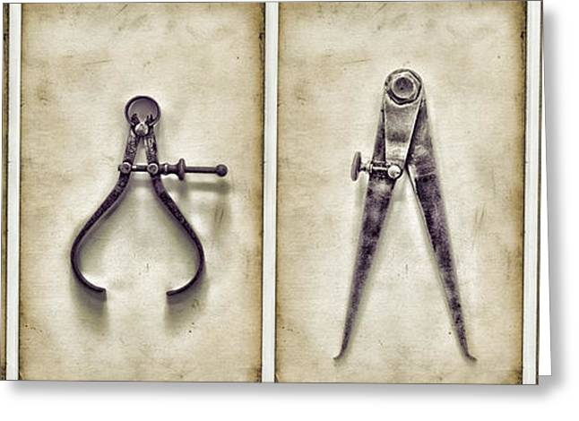 Tool Greeting Cards - Tools Greeting Card by HD Connelly