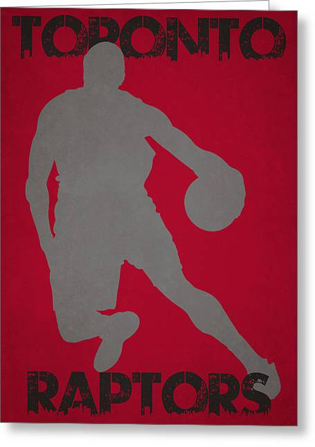 Dunk Greeting Cards - Toronto Raptors Greeting Card by Joe Hamilton