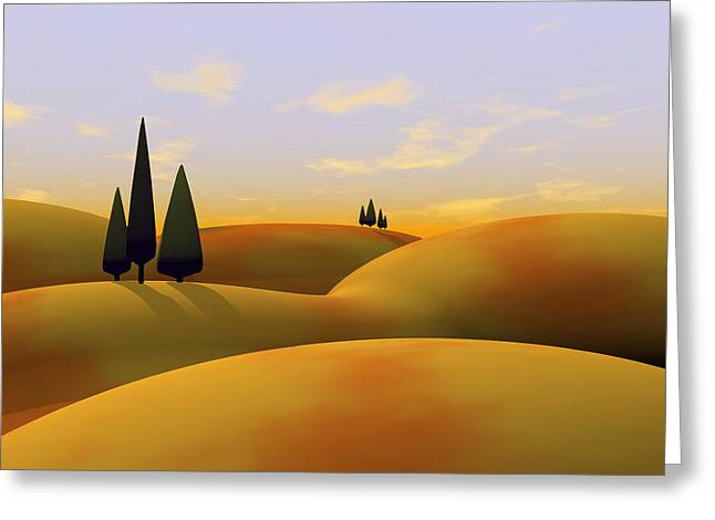 Golds Digital Art Greeting Cards - Toscana 3 Greeting Card by Cynthia Decker