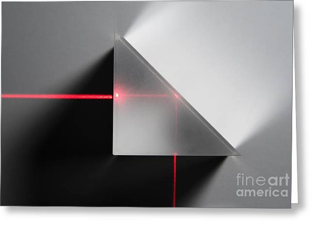 Helium Greeting Cards - Total Internal Reflection Greeting Card by GIPhotoStock