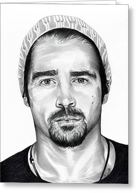 Dystopian Greeting Cards - Total Recall  Colin Farrell Greeting Card by Fred Larucci
