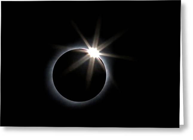Total Solar Eclipse Greeting Card by Babak Tafreshi