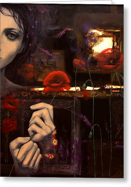 Touching The Ephemeral Greeting Card by Dorina  Costras
