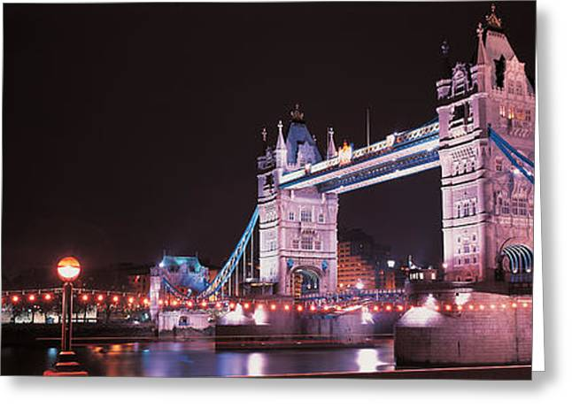 Old Structure Greeting Cards - Tower Bridge London England Greeting Card by Panoramic Images