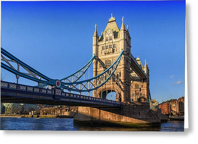 Famous Bridge Greeting Cards - Tower bridge london Greeting Card by Ian Hufton