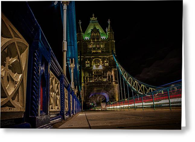 Urban Exploration Greeting Cards - Tower Bridge Greeting Card by Martin Newman