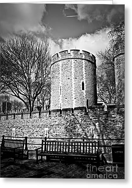 Sidewalks. Arches Greeting Cards - Tower of London Greeting Card by Elena Elisseeva