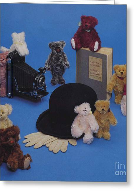 Printmaking Photographs Greeting Cards - Toys from The Roosevelt Bear Company 1989 Greeting Card by Cathy Peterson