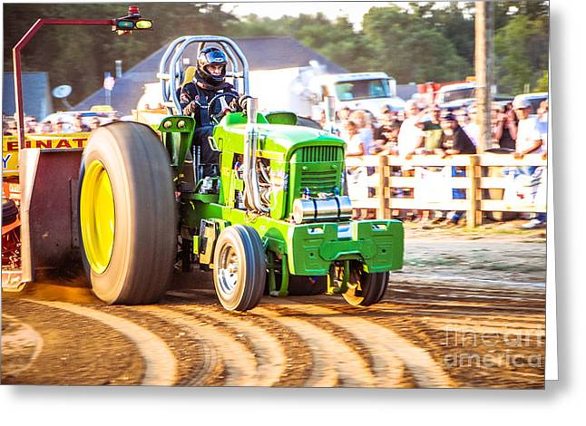 Air Tractors Greeting Cards - Tractor Pull Greeting Card by Grace Grogan
