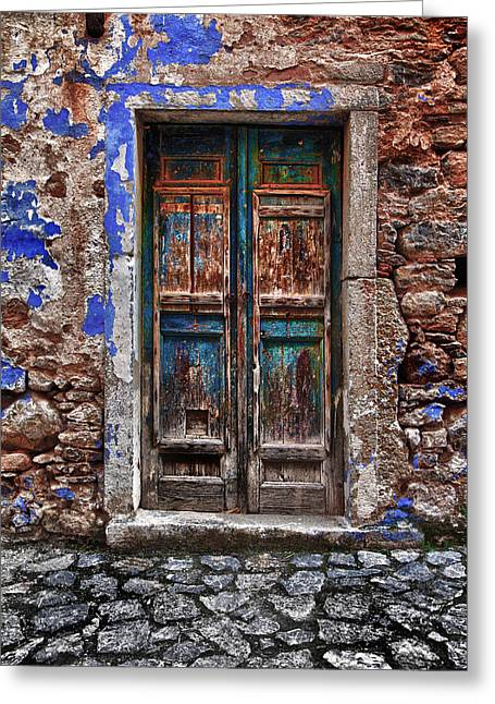 Architectur Greeting Cards - Traditional Door.. Greeting Card by Emmanouil Klimis
