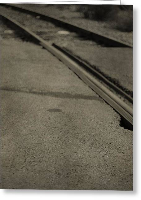 Great Mysteries Photographs Greeting Cards - Train Tracks Greeting Card by Dan Sproul