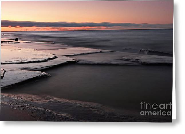 Abstract Beach Landscape Greeting Cards - Tranquil Beach Greeting Card by Charline Xia
