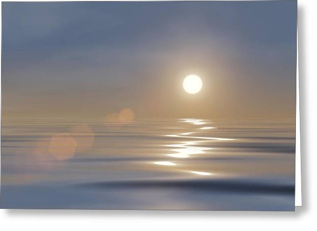 Reflecting Water Digital Art Greeting Cards - Tranquillity Greeting Card by Wim Lanclus