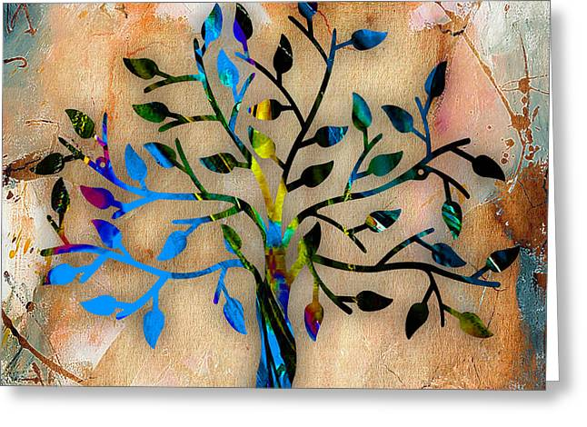Tree Of Life Greeting Card by Marvin Blaine