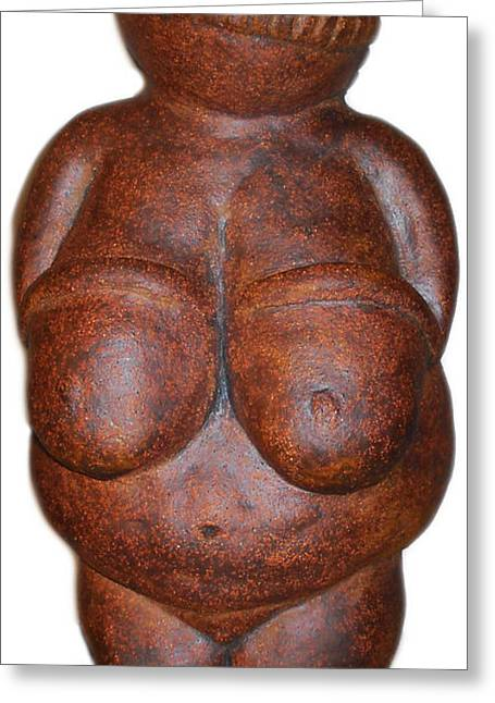 Eve Sculptures Greeting Cards - Tribute to Venus of Wilendorf Greeting Card by Kristen R Kennedy