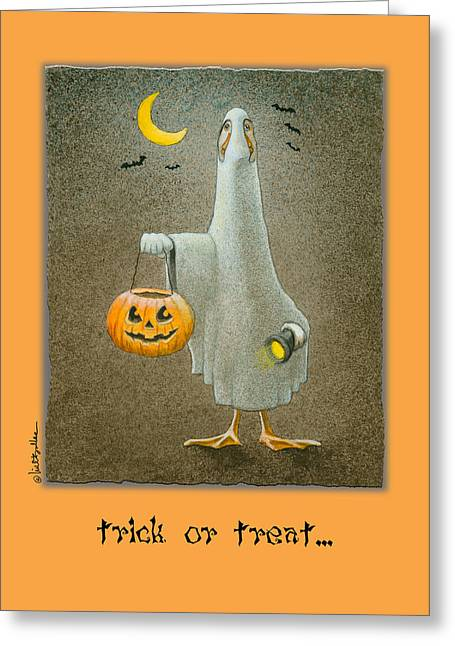 Runner Greeting Cards - Trick Or Treat... Greeting Card by Will Bullas