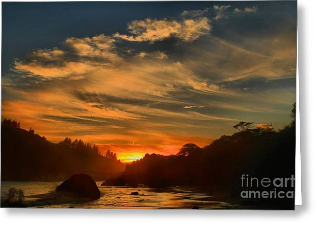 Trinidad Beach Sunset Greeting Card by Adam Jewell