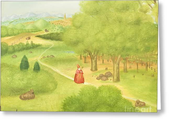 Ecumenical Greeting Cards - Trip to the ecumenical council by Fernando Botero Greeting Card by Roberto Morgenthaler
