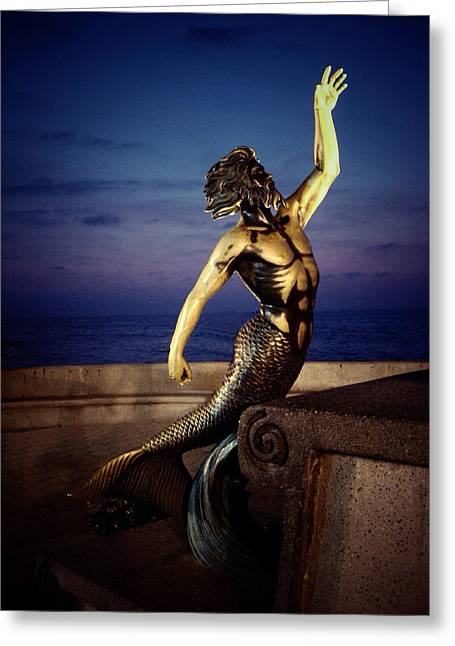 Greek Sculpture Greeting Cards - Triton Greeting Card by Natasha Marco