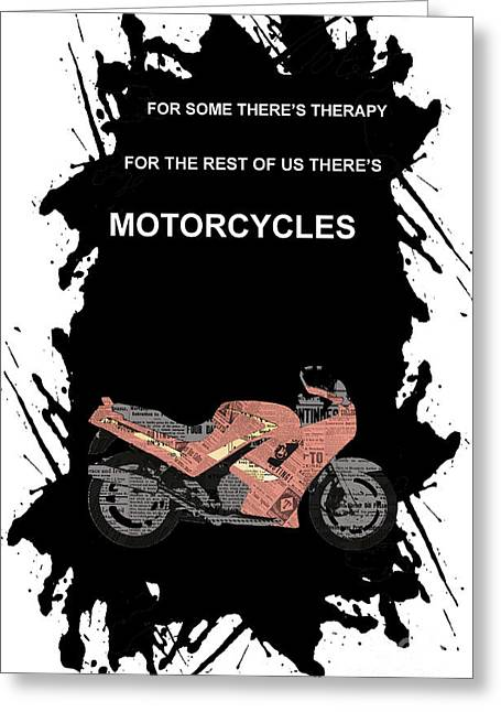 1992 Greeting Cards - Triumph Daytona 1000 1992 collage - motorcycles quote Greeting Card by Pablo Franchi