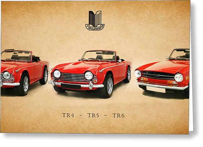 British Car Greeting Cards - Triumph TR Series Greeting Card by Mark Rogan