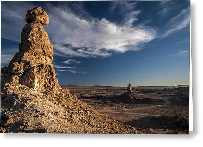 California Adventure Greeting Cards - Trona Pinnacles Greeting Card by Cat Connor