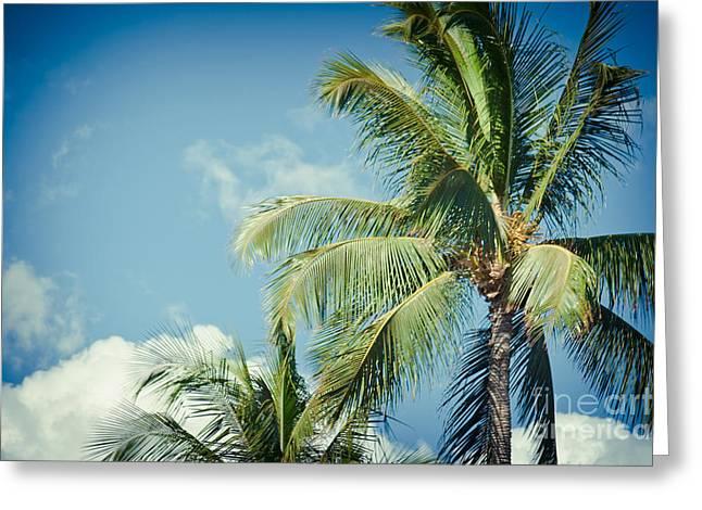 Niu Greeting Cards - Tropical Paradise Greeting Card by Sharon Mau