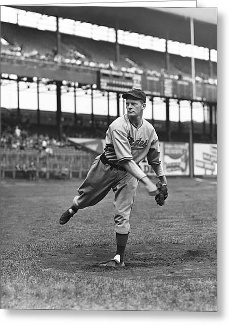 All Star Game Photographs Greeting Cards - Truett Sewell Greeting Card by Retro Images Archive