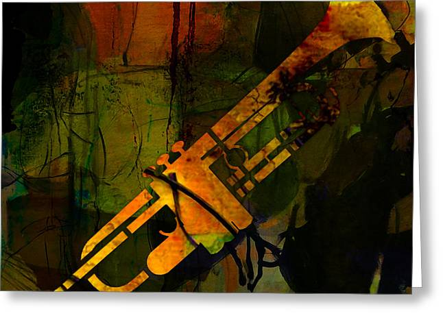 Musician Greeting Cards - Trumpet Greeting Card by Marvin Blaine