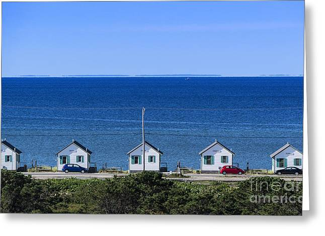 Recently Sold -  - Ocean Vista Greeting Cards - Truro Cottages Greeting Card by John Greim