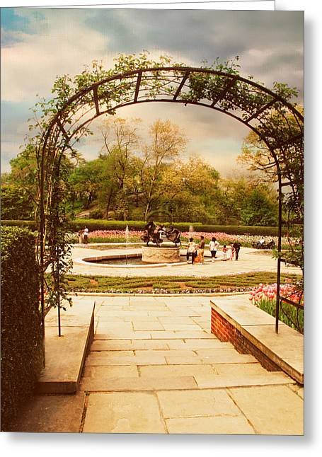 Conservatory Garden Greeting Cards - Tulip Garden Greeting Card by Jessica Jenney