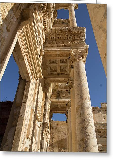 Turkey, Izmir, Kusadasi, Ephesus Greeting Card by Emily Wilson