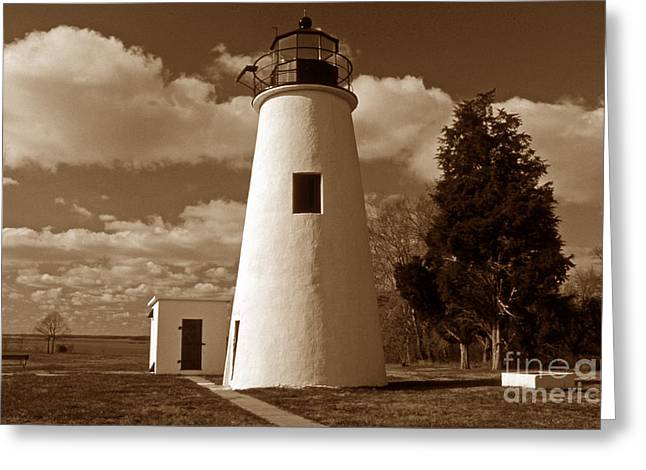 Beach Photography Greeting Cards - Turkey Point Lighthouse Greeting Card by Skip Willits