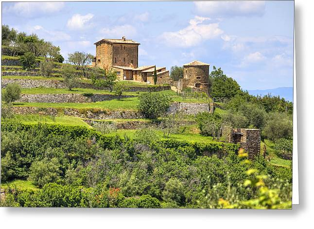 Olive Oil Greeting Cards - Tuscany - Montalcino Greeting Card by Joana Kruse