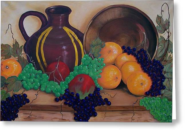 Ewer Paintings Greeting Cards - Tuscany Treats Greeting Card by Sharon Duguay