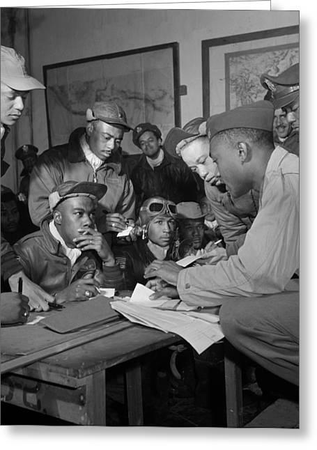 Ramitelli Greeting Cards - Tuskegee Airmen, 1945 Greeting Card by Granger