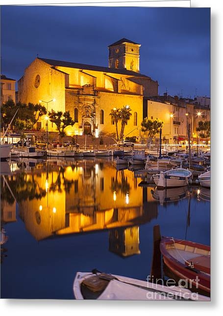 Azur Greeting Cards - Twilight over La Ciotat Greeting Card by Brian Jannsen